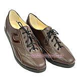 Туфли женские кожаные на шнурках, цвет коричневый, фото 5