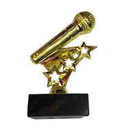 Награда микрофон на мраморе 13 см
