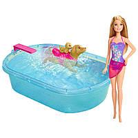 Интерактивный набор - кукла Барби и бассейн для щенков Barbie, фото 1