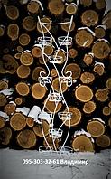 Цикламена-2, подставка для цветов со стеклом в основании, фото 1