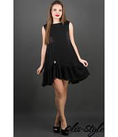 Молодежное черное  платье Роми    Olis-Style 44-50 размеры