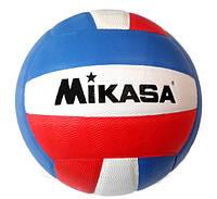Волейбольный мяч Mikasa клееный красно-синий