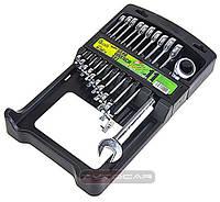 Набор ключей с трещеткой  ✓ состоит из 11 ключей ➲ 8,9,10,11,12,13,14,15,16,17,19 мм.
