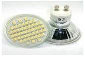 Светодиодная лампа GU10, 48 светодиодов, белая (холодная)