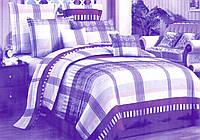 """Комплект постельного белья  2-х  спальный бязь """"Фиолетовая клетка"""" (кп2б)"""