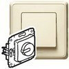 Светорегулятор поворотный 40-300W (слон. кость)