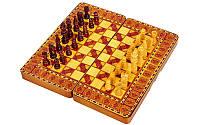 Шахматы-шашки-нарды 3 в 1 МДФ и дерево 30 х 30 см (B)