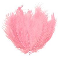 Перья Декоративные (Перо) Марабу Розовые 8-13 см 10 шт/уп