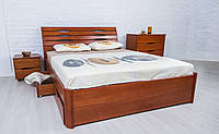Кровать деревянная Марита Люкс с 4 ящиками Олимп