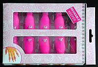 Зажимы - клипсы для снятия гель-лака розовые