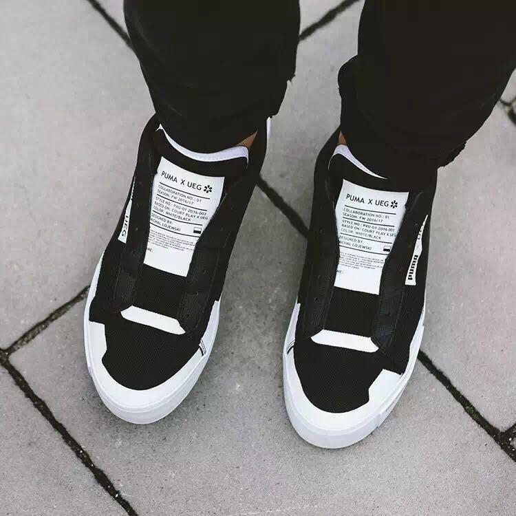 Мужские кроссовки Puma Court Play x UEG Low black  купить в ... 727dcef1d7d