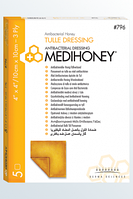 Derma Sciences Medihoney ® Tulle Dressing. Размер 10 х 10 см