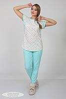 Пижама для беременных и кормящих Relax, ментол