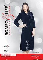 """Молодежный велюровый халат р-ры XL,2XL,3XL """"Romeo&Life"""" Турция"""