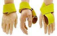 Кистевые лямки для становой тяги кожаные Zelart 2 шт