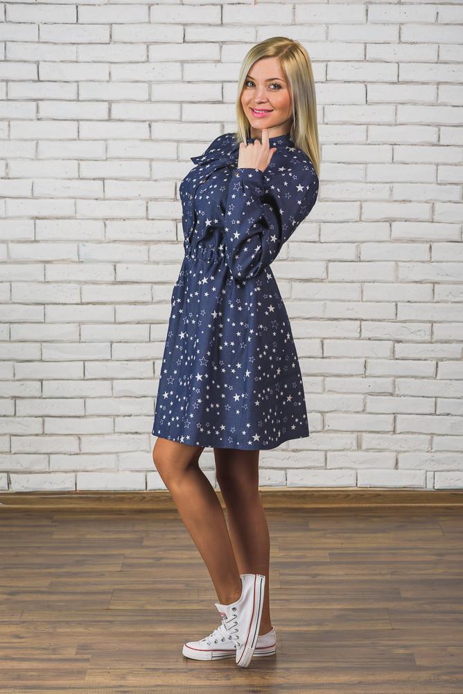 Платье женское джинс Звезда