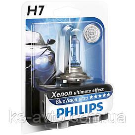 Автомобильная лампа Philips Blue Vision ultra H7 12972BVB Xenon effect