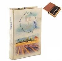 Книга сейф с ключом Поле Лаванды 26 см