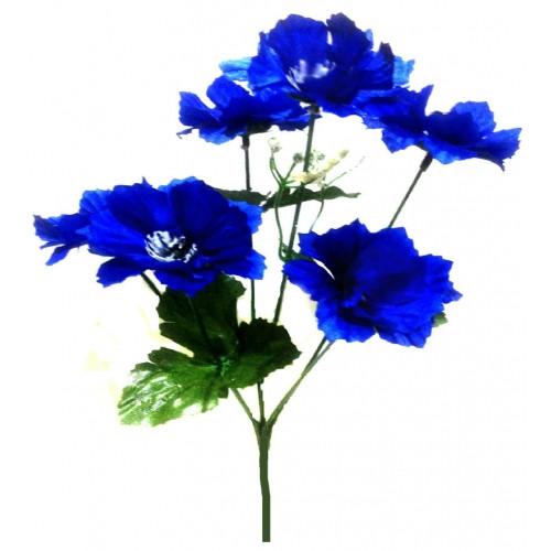 Букет искусственных цветов «Василёк» синего цвета (50 шт)