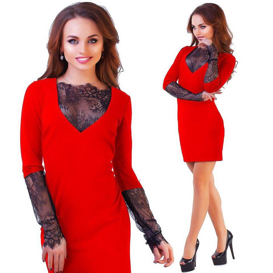 8996efd25c0 Красное женское платье