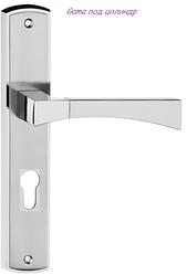 Дверная ручка Gama никель сатин