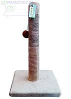 Когтеточка-столбик Уют джутовая маленькая Д25 (30*30*h50 см, d7см)