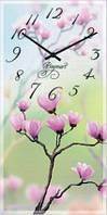 Часы настенные из стекла - сад сакуры(немецкий механизм)