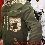Флисовая кофта Тактик олива Укр. пиксель, фото 3