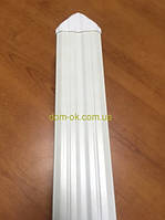 Штахет пластиковый цветной, размером  80х15мм цвет на выбор  * Белый