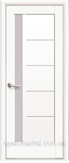 Модель Грета белый матовый стекло межкомнатные двери, Николаев
