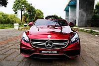 Детский электромобиль Mercedes Benz S63  красный***