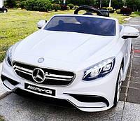 Детский электромобиль Mercedes Benz S63 белый***