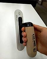 Шпатель пластмассовый закругленный с деревяной ручкой 200*50мм CO.ME