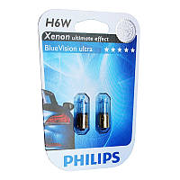 Автомобильная лампа Philips Blue Vision ultra H6W 12036BVB Xenon effect