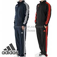 Спортивные костюм Адидас темно-синий+белые полосы, размер 50