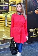 Пальто женское однобортное с поясом