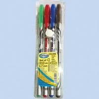84194 Набор ручек-4 шт. цветной гель, 0,7мм