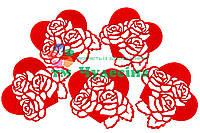 Сердце с розами
