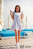 Платье женское TM Brand Hall в клеточку без рукавов