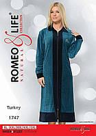 """Велюровый халат больших размеров р-ры XL,2XL,3XL,4XL,5XL """"Romeo&Life"""" Турция"""