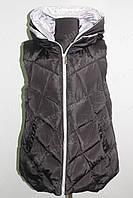 Женская спортивная жилетка на замке черная