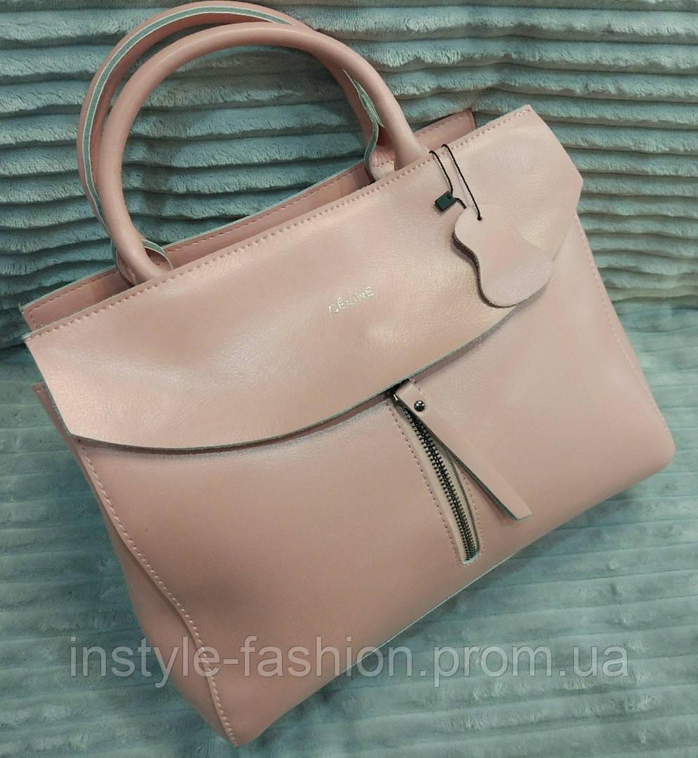 787e6787a2f5 Кожаная сумка Celine Селин розовая: купить недорого копия продажа ...