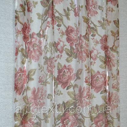 Тюль микровуаль Трояндочки, фото 2