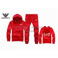 Красный спортивный костюм армани ЕА-7