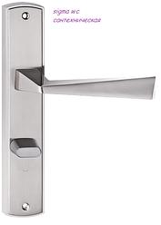 Дверная ручка Sigma  никель сатин