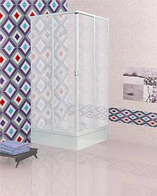 Душевой угол квадратный МетаКам 80x80x177 2-х стенный 2-х дверный