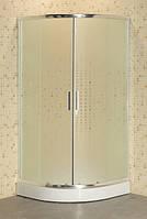 Душовий куток напівкруглий Sansa SH-90/15 Мозаїк 90x90x195