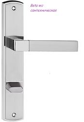 Дверная ручка Beta  никель сатин