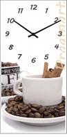 Часы настенные из стекла - кофейная кружка с кофем(немецкий механизм)