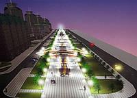 Нормы освещения непроезжих частей улиц, дорог, площадей, бульваров и скверов, пешеходных улиц и территорий микрорайонов